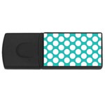 Turquoise Polkadot Pattern 4GB USB Flash Drive (Rectangle)