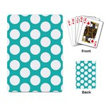 Turquoise Polkadot Pattern Playing Cards Single Design