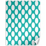 Turquoise Polkadot Pattern Canvas 12  x 16  (Unframed)