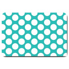 Turquoise Polkadot Pattern Large Door Mat from ArtsNow.com 30 x20  Door Mat