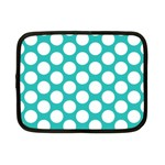 Turquoise Polkadot Pattern Netbook Sleeve (Small)
