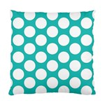Turquoise Polkadot Pattern Cushion Case (Single Sided)