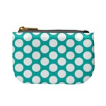 Turquoise Polkadot Pattern Coin Change Purse