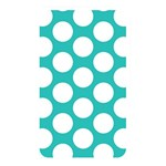 Turquoise Polkadot Pattern Memory Card Reader (Rectangular)