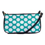 Turquoise Polkadot Pattern Evening Bag
