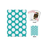 Turquoise Polkadot Pattern Playing Cards (Mini)