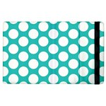 Turquoise Polkadot Pattern Apple iPad 3/4 Flip Case
