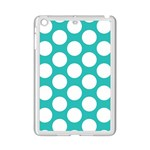 Turquoise Polkadot Pattern Apple iPad Mini 2 Case (White)