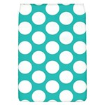 Turquoise Polkadot Pattern Removable Flap Cover (Large)