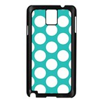 Turquoise Polkadot Pattern Samsung Galaxy Note 3 N9005 Case (Black)