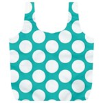 Turquoise Polkadot Pattern Reusable Bag (XL)