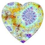 Golden Violet Sea Shells, Abstract Ocean Jigsaw Puzzle (Heart)