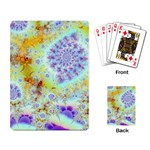 Golden Violet Sea Shells, Abstract Ocean Playing Cards Single Design