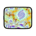 Golden Violet Sea Shells, Abstract Ocean Netbook Sleeve (Small)