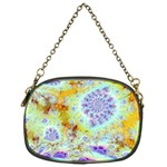 Golden Violet Sea Shells, Abstract Ocean Chain Purse (One Side)