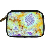 Golden Violet Sea Shells, Abstract Ocean Digital Camera Leather Case