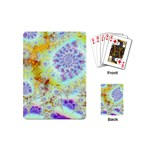 Golden Violet Sea Shells, Abstract Ocean Playing Cards (Mini)