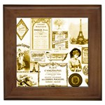 Parisgoldentower Framed Ceramic Tile