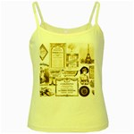 Parisgoldentower Yellow Spaghetti Tank