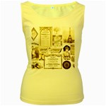 Parisgoldentower Women s Tank Top (Yellow)