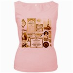 Parisgoldentower Women s Tank Top (Pink)