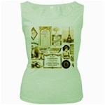 Parisgoldentower Women s Tank Top (Green)