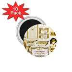 Parisgoldentower 1.75  Button Magnet (10 pack)