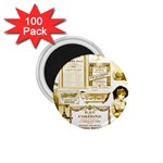 Parisgoldentower 1.75  Button Magnet (100 pack)