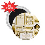 Parisgoldentower 2.25  Button Magnet (10 pack)