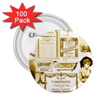 Parisgoldentower 2.25  Button (100 pack)