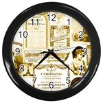 Parisgoldentower Wall Clock (Black)