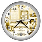 Parisgoldentower Wall Clock (Silver)
