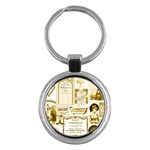 Parisgoldentower Key Chain (Round)
