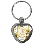 Parisgoldentower Key Chain (Heart)