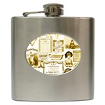Parisgoldentower Hip Flask