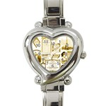 Parisgoldentower Heart Italian Charm Watch