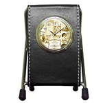 Parisgoldentower Stationery Holder Clock