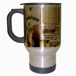 Parisgoldentower Travel Mug (Silver Gray)