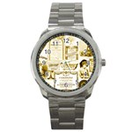 Parisgoldentower Sport Metal Watch