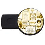 Parisgoldentower 4GB USB Flash Drive (Round)
