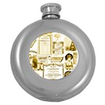 Parisgoldentower Hip Flask (Round)