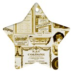 Parisgoldentower Star Ornament (Two Sides)
