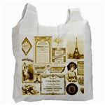 Parisgoldentower White Reusable Bag (Two Sides)