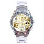 Parisgoldentower Stainless Steel Watch