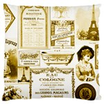 Parisgoldentower Large Cushion Case (Two Sided)