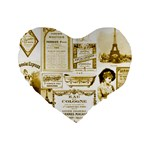 Parisgoldentower 16  Premium Heart Shape Cushion