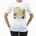 Parisgoldentower Women s T-Shirt (White)