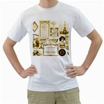 Parisgoldentower Men s T-Shirt (White)