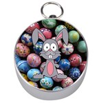 Easter Egg Bunny Treasure Silver Compass
