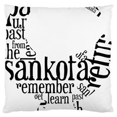 Sankofashirt Large Flano Cushion Case (One Side) from ArtsNow.com Front